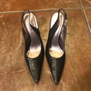 BCBG Leather Pointed Heels